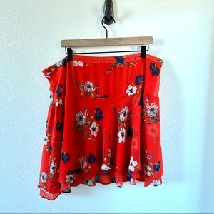 Floral Swing Skirt w/ side zip